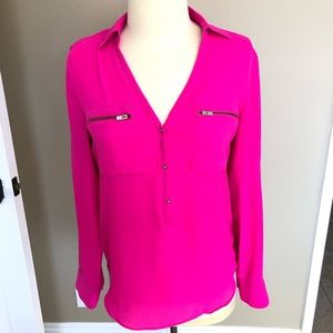 Long sleeve chiffon top by Express, SIZE SMALL